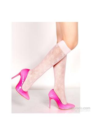Pierre Cardin Desenli Dizaltı Çorap Tracy Pembe
