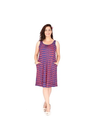 Tepa Lacivert Puanlı Elbise 01000116-82
