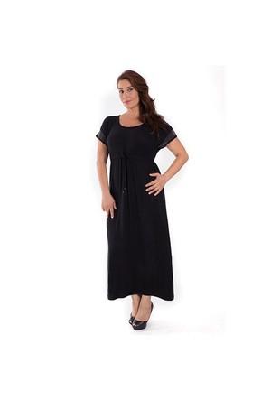Tepa Taşlı Uzun Elbise 01000116-92