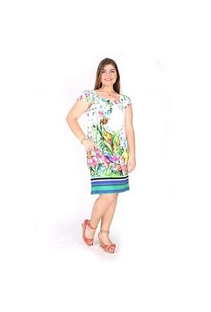 Tepa Kuş Desenli Elbise 01000037-01