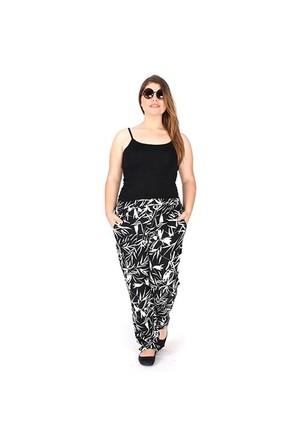 Tepa Siyah Beyaz Lale Betty Pantolon 01000032-08
