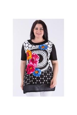 Megan Siyah Çiçekli Bluz 01000116-22