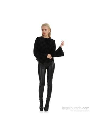 Demoda Siyah Kadife Ceket