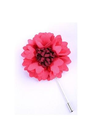 La Pescara Pembe-Bordo Özel Tasarım Yaka Çiçeği Yc0062