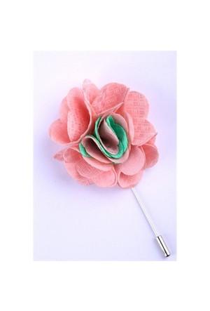 La Pescara Pembe-Yeşil Özel Tasarım Yaka Çiçeği Yc0065