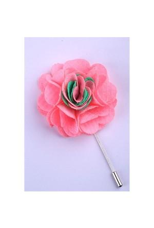 La Pescara Pembe-Yeşil Özel Tasarım Yaka Çiçeği Yc0070
