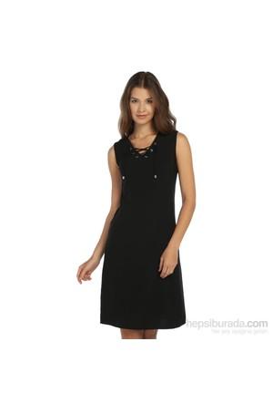 Lir Büyük Beden Siyah Elbise
