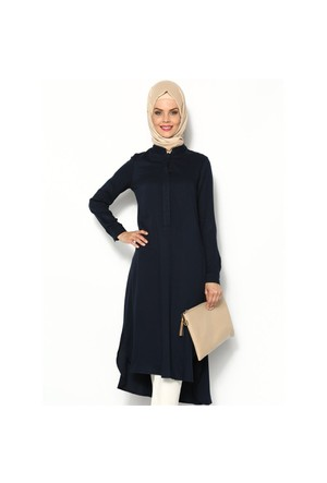 Belmando Uzun Tunik - Lacivert - Cml Collection