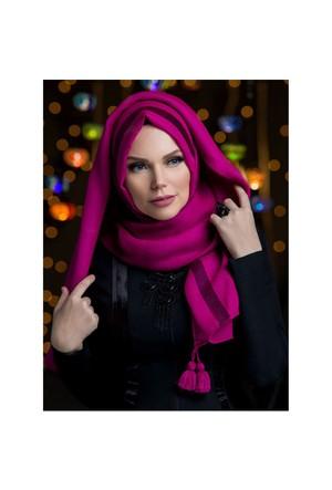 Queen Püsküllü Şal - Fuşya - Muslima Wear