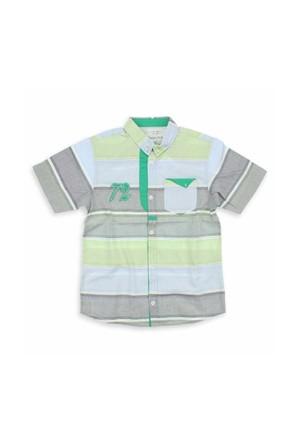 Modakids Nanica Erkek Çocuk Çizgili Gömlek (4-8 Yaş) 001-5712-017