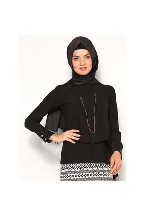 Kolyeli Bluz - Siyah - Tuncay