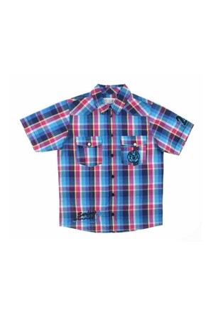 Modakids Nanica Erkek Çocuk Ekose Kısa Kol Gömlek (9-14 Yaş) 0014978015