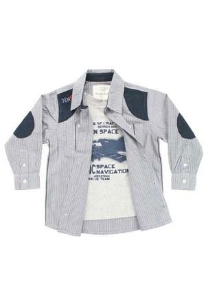 Modakids Nanica Erkek Çocuk Çizgili Uzunkol Gömlek (4-8 Yaş) 001-5425-012
