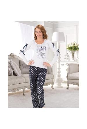 Gümüş Bayan Pijama Takım 1269