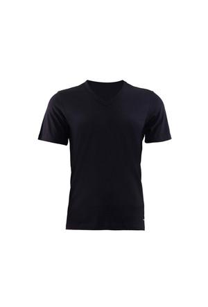 Blackspade Loose Fit Erkek V-Yaka T-Shirt 9240 Siyah