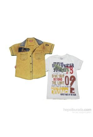 Bicirik Ö-745 Kısakol Gömlek Hardal