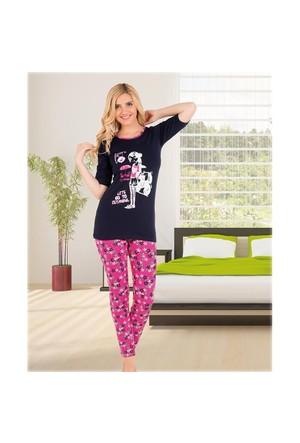 Gümüş 525 Kısakol Pijama Takım Lacivert