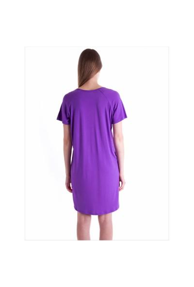 Ayyıldız 59480 Mor Penye Elbise