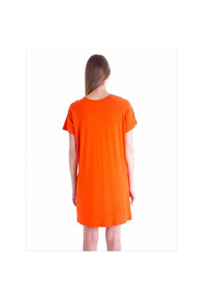 Ayyıldız 59480 Oranj Penye Elbise