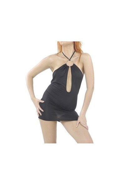 Terry Pau TP120615 Seksi Özel Kesim Mini Elbise