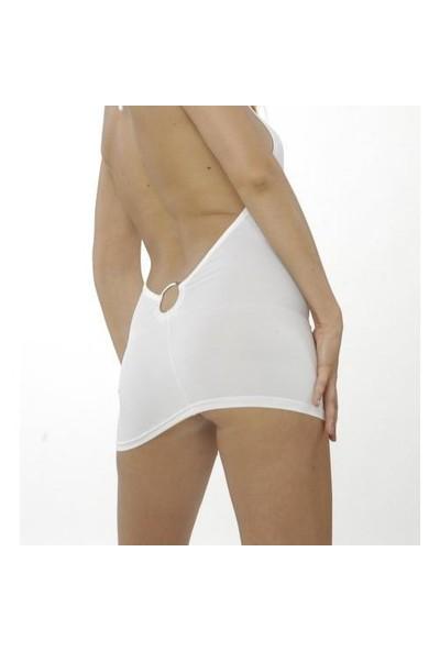 Terry Pau TP120639 Ön Ve Arka Metal Halkalı Mini Elbise