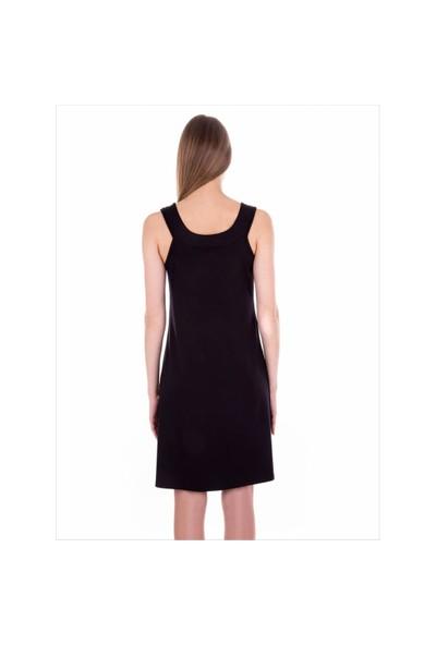 Ayyıldız 59431 Siyah Penye Elbise