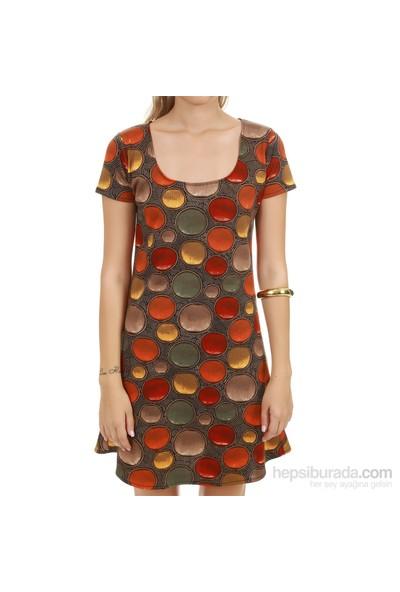 Demoda Desenli Kadın Elbise