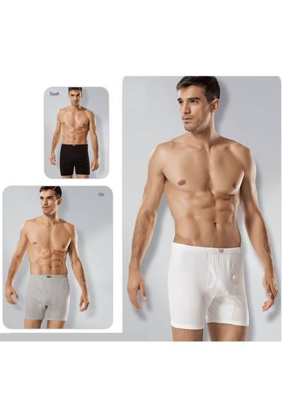 Tutku 6'Lı Paket Erkek Ribana Paçalı Külot Beyaz