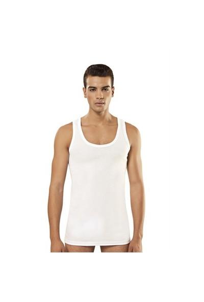 Tutku 6'Lı Paket Erkek Ribana Atlet Beyaz