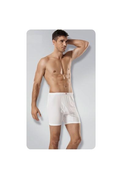 Seher 6'Lı Paket Erkek Paçalı Külot Beyaz