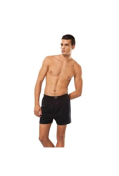 Tutku 6'Lı Paket Erkek Havlu Bel Düğmeli Boxer Grimelanj