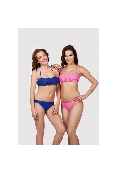 Mila Çıkarılabilir İpli Püsküllü Straplez Bikini Takım 2505-001