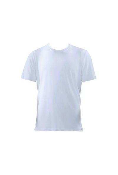 Blackspade Silver Erkek Bisiklet Yaka T-Shirt 9306 Beyaz