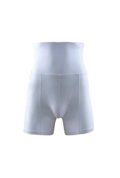 Blackspade Body Control Erkek Sıkılaştırıcı Yüksek Bel Boxer Korse 9210 Beyaz