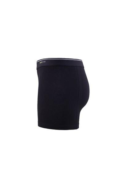 Blackspade Tender Cotton Erkek Boxer 3lü Paket 9673 Siyah