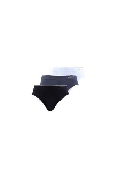 Blackspade Tender Cotton Erkek Slip Külot 3lü Paket 9672 Beyaz-Siyah-Antrasit
