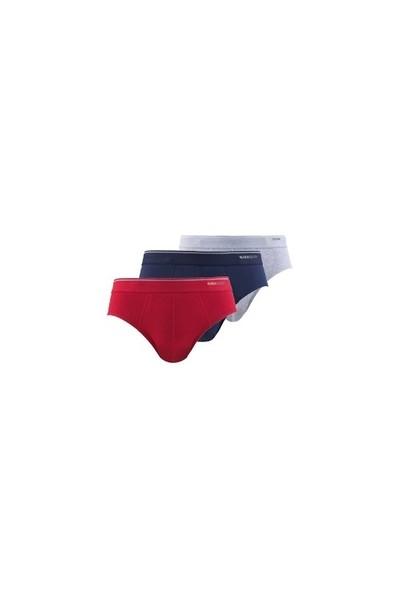 Blackspade Tender Cotton Erkek Slip Külot 3lü Paket 9672 Lacivert-Kırmızı-Gri Melanj