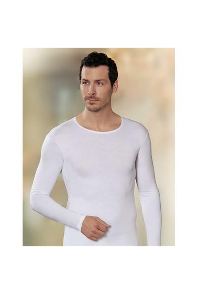 Şahinler Uzun Kollu Likralı Süprem Atlet Beyaz Me070