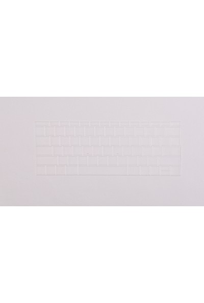 "Macstorey Apple Macbook Pro Retina Air Q Klavye Koruyucu Kapağı Silikonlu Kılıf US Amerikan İngilizce 13"" 15"" 17"" 323"