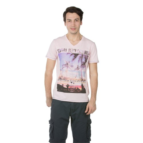 Colin's Pembe Erkek Tshirt Kısa Kol