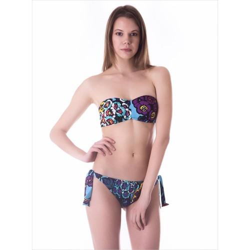 Ayyıldız 22538 Mor Desenli Straplez Bikini