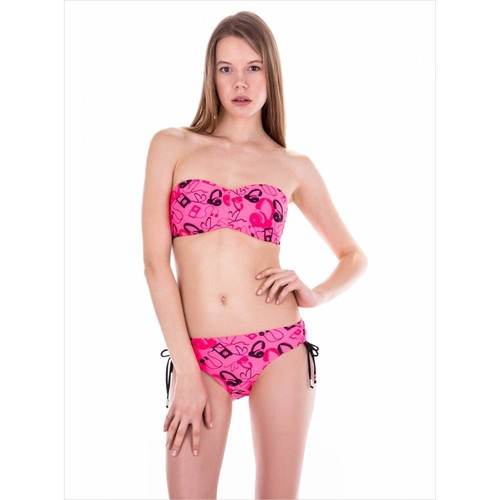 Ayyıldız 40694 Pembe Desenli Straplez Bikini