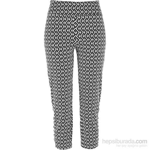 Bpc Selection Premium Siyah Premium 3/4 Paça Streç Pantolon 34-54 Beden