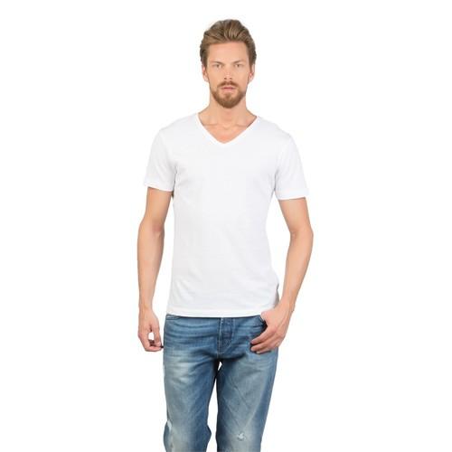 Colin's Beyaz Erkek Tshirt Kısa Kol