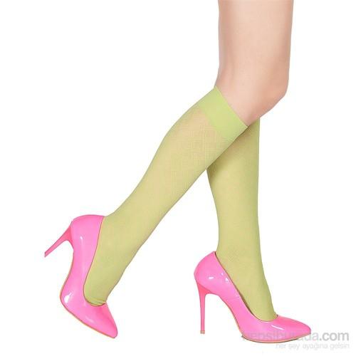Pierre Cardin Desenli Dizaltı Çorap Arleta Yeşil