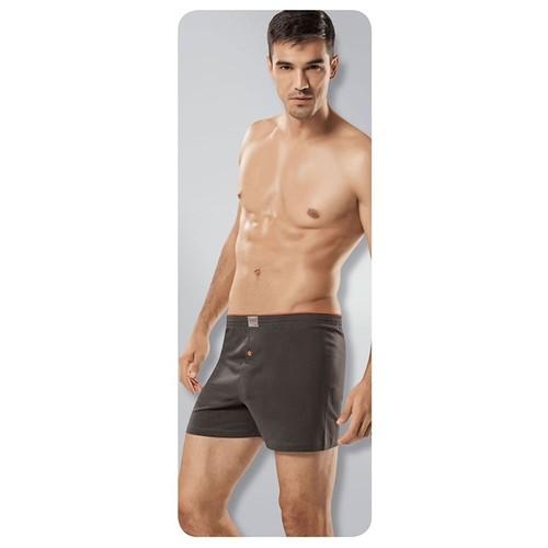 Tutku 3'Lü Paket Erkek Havlu Bel Düğmeli Boxer Lacivert