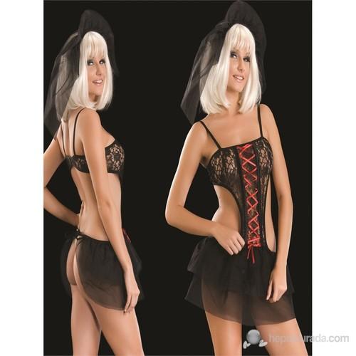 La Blinque Fantezi Siyah Gelinlik Kostüm