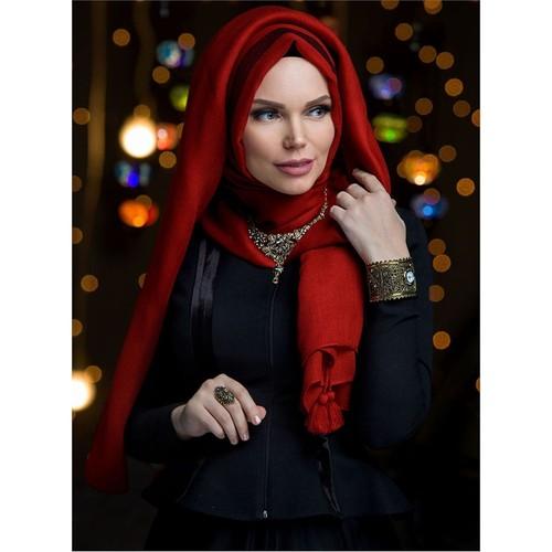 Queen Püsküllü Şal - Terracotta - Muslima Wear