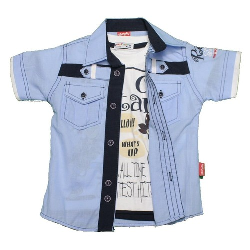 Polat P-6153 Çocuk Gömlek Mavi