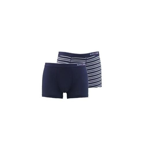 Blackspade Stripes Erkek Boxer 2li Paket 9551 Lacivert-Lacivert-Beyaz